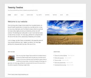 Thème WordPress Twenty Twelve